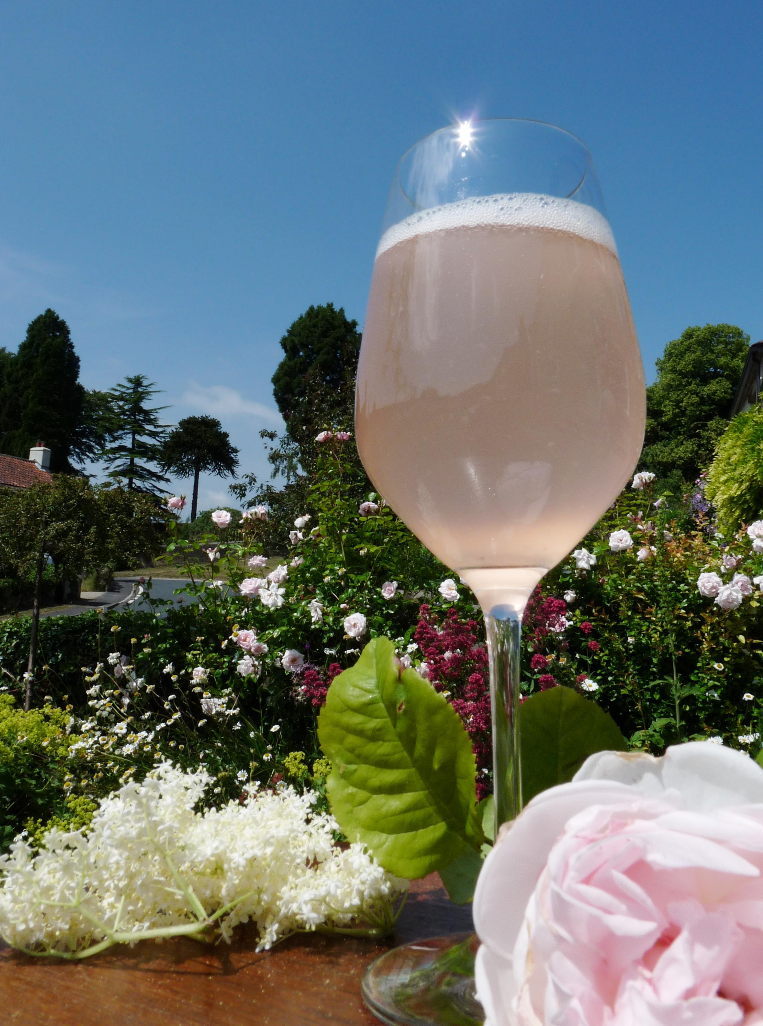 Elderflower and Rose champagne