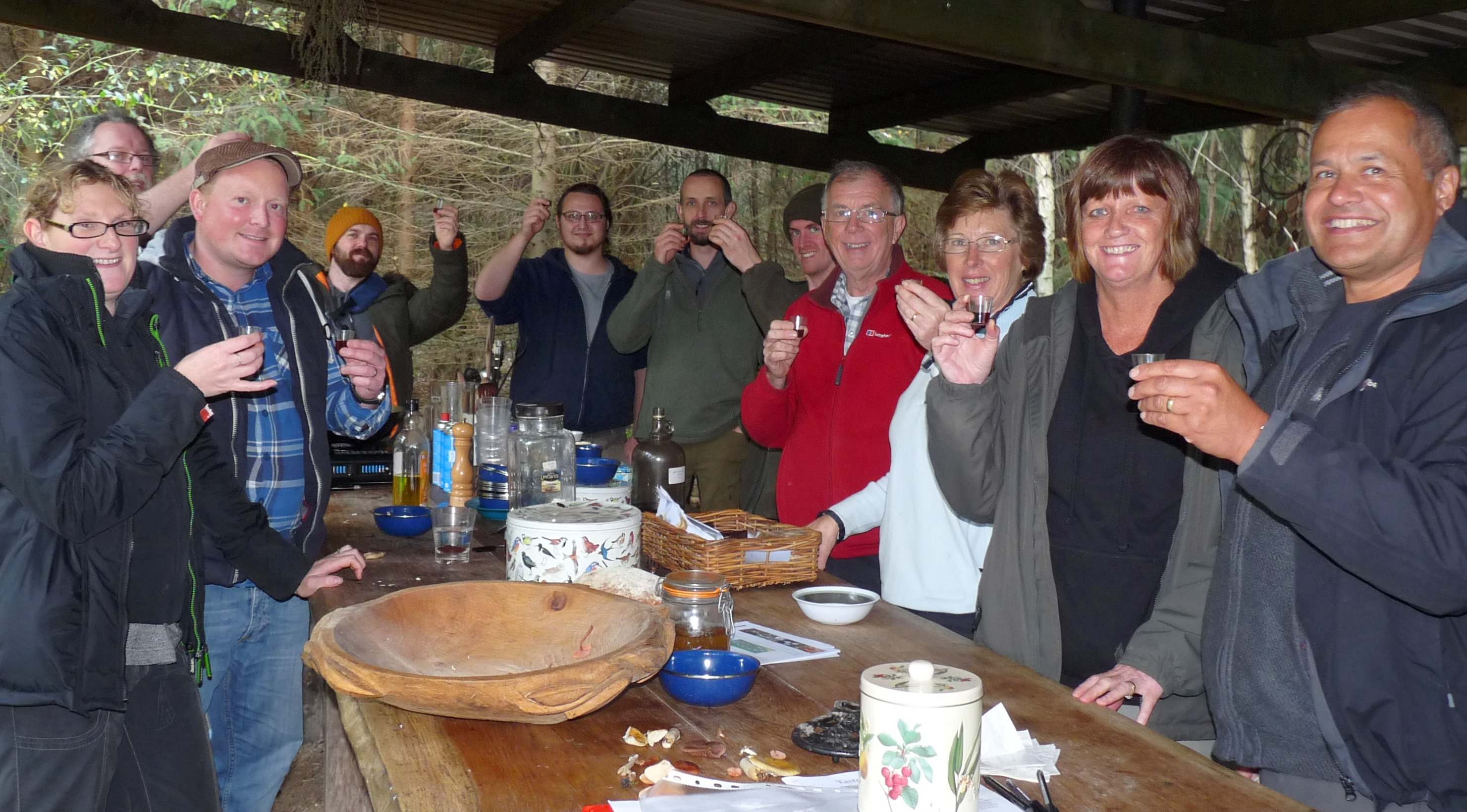 The participants raised a glass of Hedgerow Vodka
