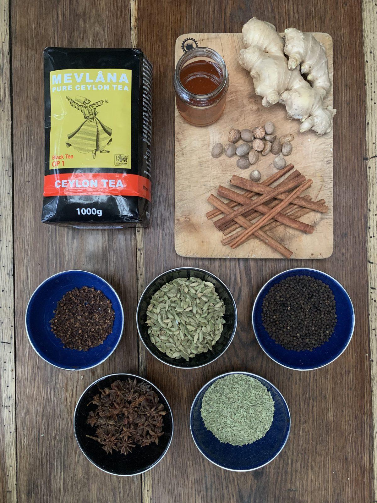 Masala Chai Ingredients