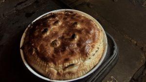 Pancake Pie at the Fireside